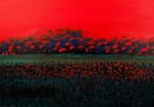 """<h5>""""Dynamic Landscape"""", 2008, 90x130cm</h5>"""